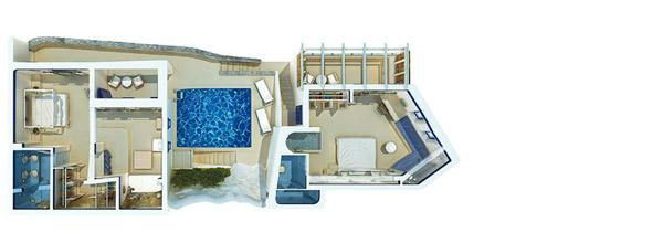 Island Blu Villa with Private Pool floorplan
