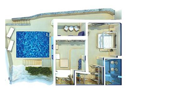 Sample Mykonos Blu Junior Villa with Private Pool floorplan
