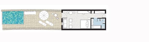 Sample Junior Suite with Private Infinity Pool floorplan