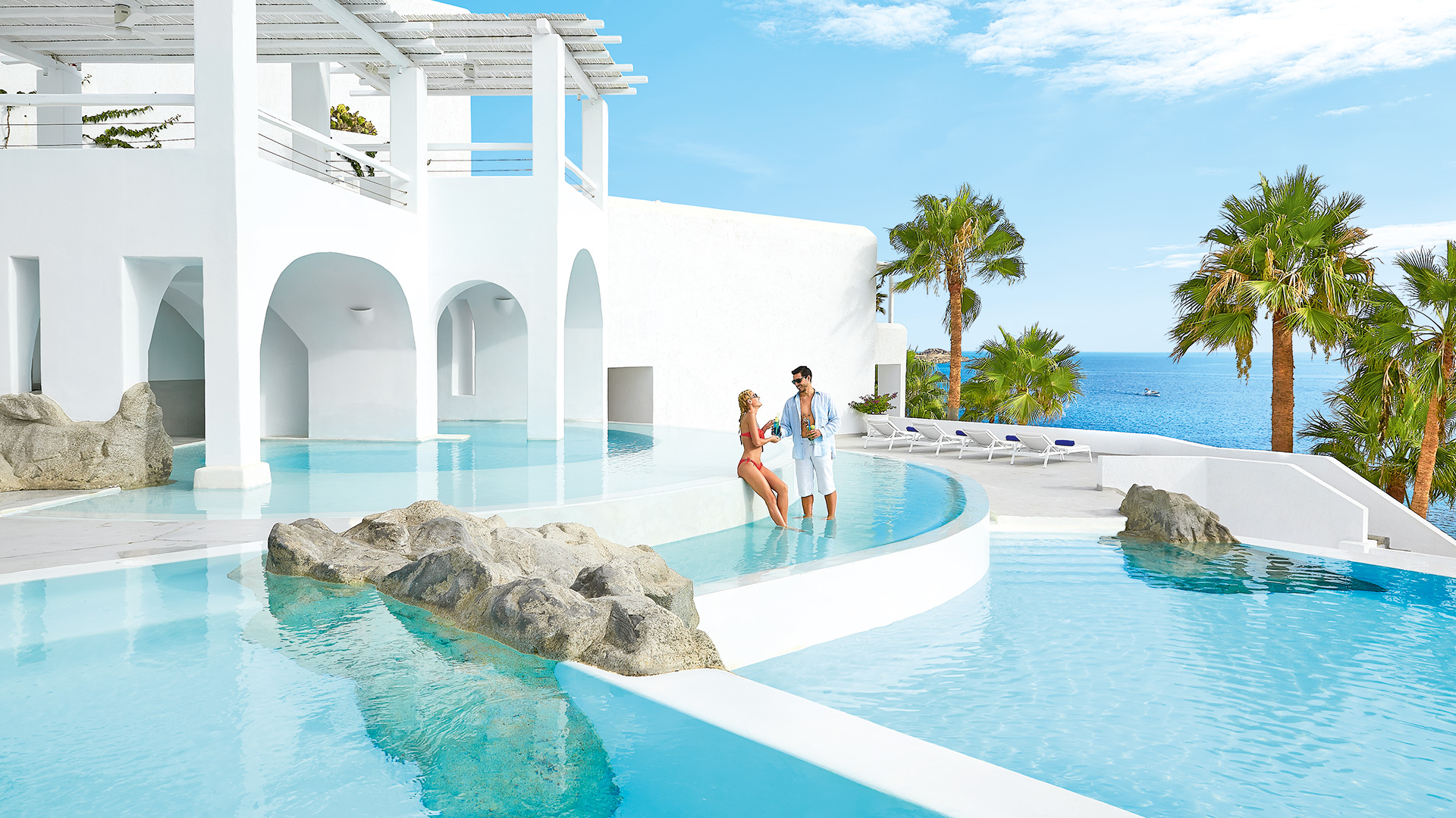 mykonos blu | luxury hotel & resort in mykonos, psarou beach