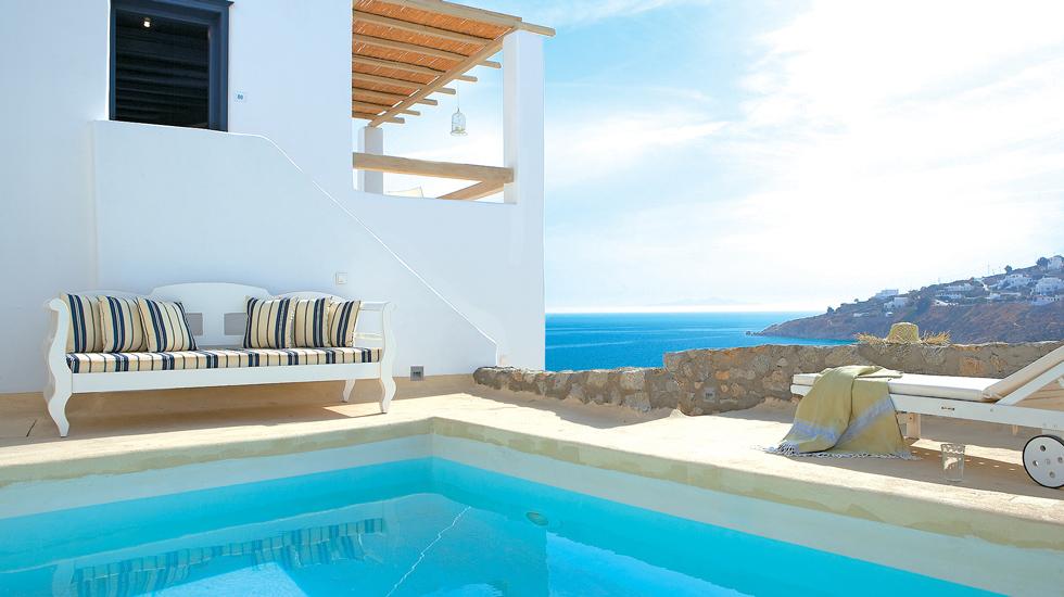 Mykonos Island Blu Villa private pool