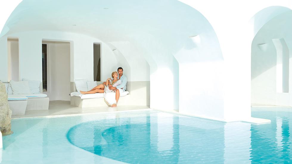 Mykonos Blu Luxury hotel in Greece