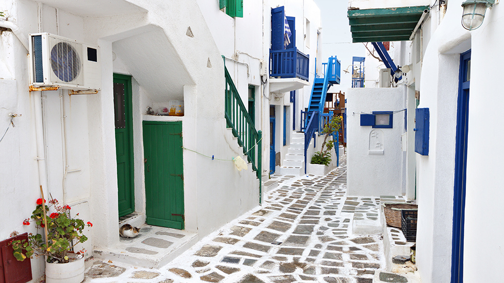 Mykonos Cycladic architecture