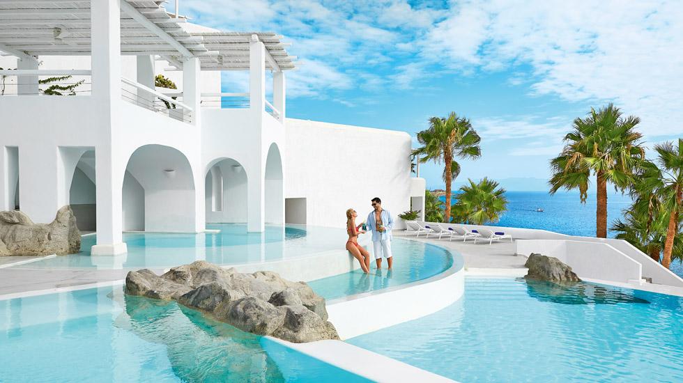 Services Mykonos Blu Luxury Resort In Psarou Beach