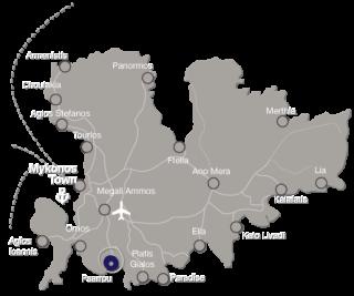 Mykonos  Island Map
